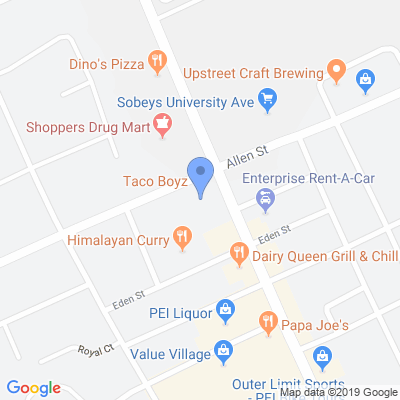 DD Pizza & Donair Hub Map